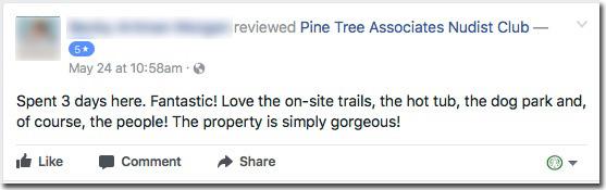 Reviews: Pine Tree Associates Nudist Club - Facebook review #4