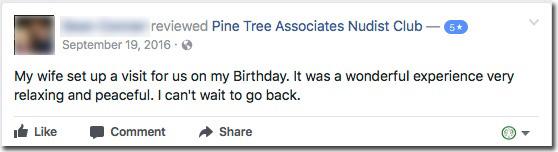 Reviews: Pine Tree Associates Nudist Club - Facebook review #5