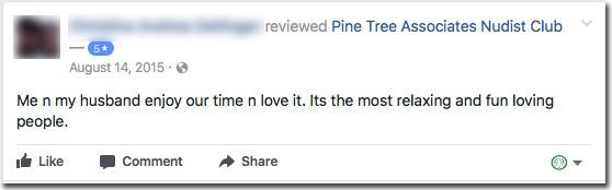 Reviews: Pine Tree Associates Nudist Club - Facebook review #7
