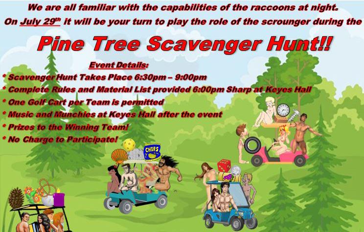 Scavenger Hunt flyer
