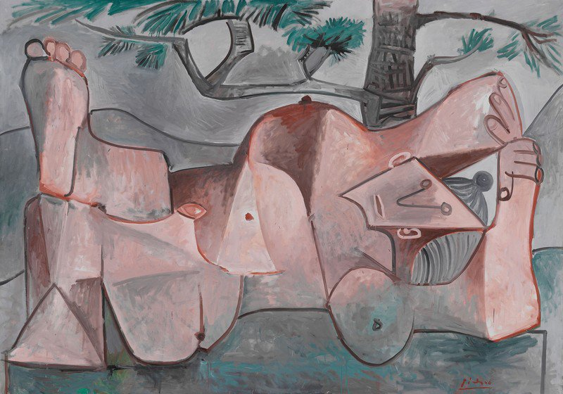"""Picasso's """"Nude Under a Pine Tree"""", 1959."""