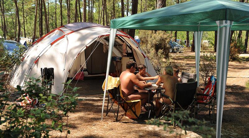 Nudist camp photo.
