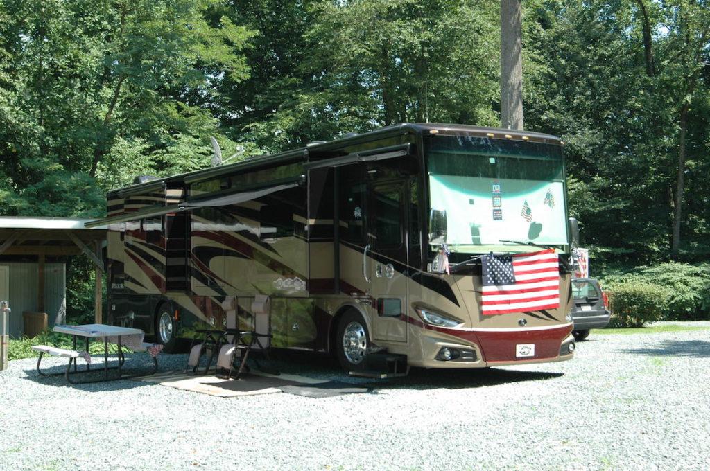 Recreational vehicle visiting Pine Tree.