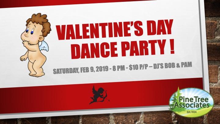 Valentine's Day Dance Party flier.