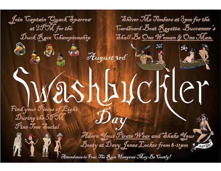 Swashbuckler information flyer.